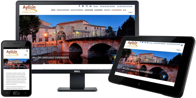 Ayllón Language Experience web